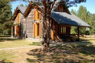 Two summer cottages (80 sq / m and 100 sq / m area) with 1 ha of land in Bernati