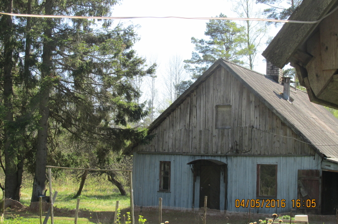 Country house with land an area 6.06 ha 20 km from Liepāja to Ventspils district, Vergale parish
