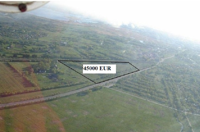 Land plot an area of 2, 27 hectares for commercial activity, from the centre Liepāja 5 km, from airport Liepaja 2 km