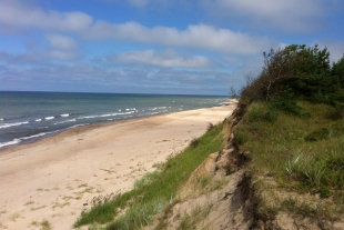 Land plot with the area of 0.62 ha in Saraiki, 100 m from the shore of the Baltic Sea