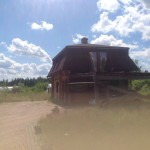 2-storey log house with land area of 14.1 hectares in Baldone parish, 4 km from the town of Baldone