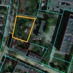 Land plot an area of 1124 sq/m for individual and commercial building near the centre of Liepāja, Street Apšu
