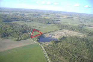 Land of 1.43 hectares in the county of Gaviezes, Liepaja district, 22 km from Liepāja towards Priekule