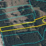 Land plot of 1.36 hectares with maritime border 28 m in the Pape, Latvia, 35 km from Palanga