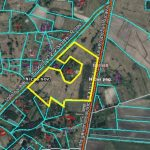 The land area of 6.27 hectares in Bernati, 15 km from Liepaja, for private or commercial buildings