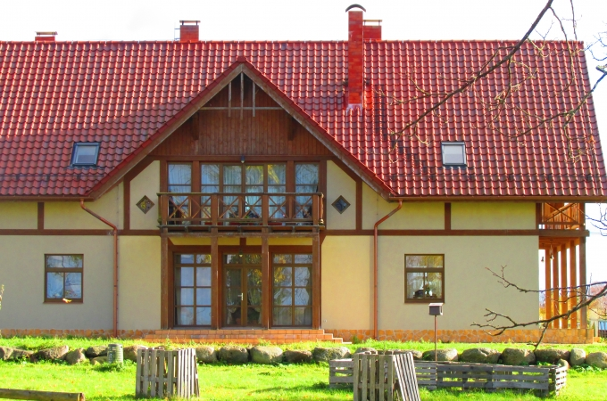 The house  an area of 411 sq/m with a land plot of 1.5 hectares in a distance of 1.5 km from Durbe, 2 km from Liepaja